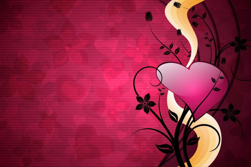 Vector pink heart abstract wallpaper for desktop