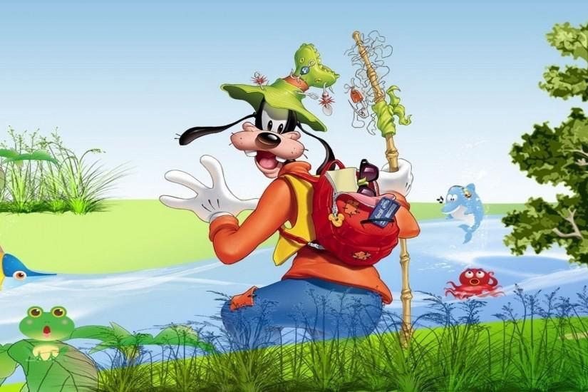 Goofy Goes Fishing Wallpaper