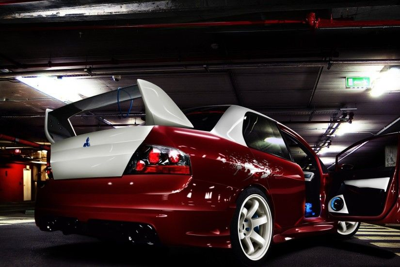 Wallpapers Mitsubishi Lancer Evo X Evolution Back Red White Up Net .