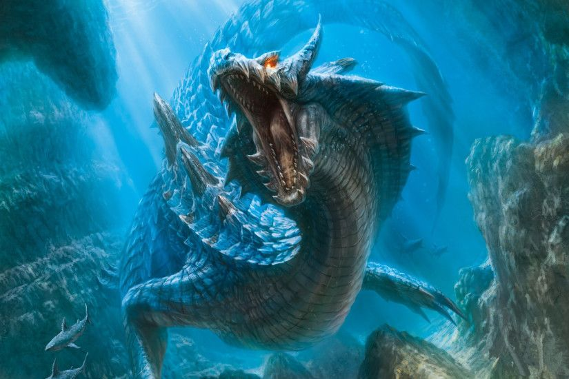 Monster-Hunter moster hunter fantasy dragons creatures underwater wallpaper  | 1920x1200 | 23703 | WallpaperUP