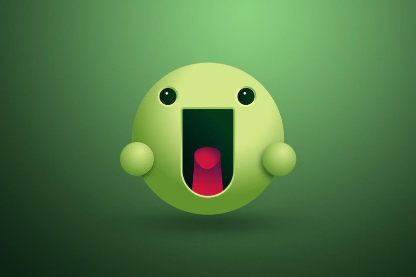 1920x1080 Green Smiley Face desktop PC and Mac wallpaper