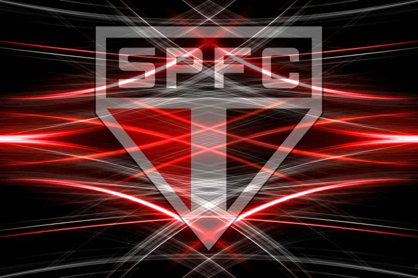 Black red Sao Paolo FC desktop wallpaper