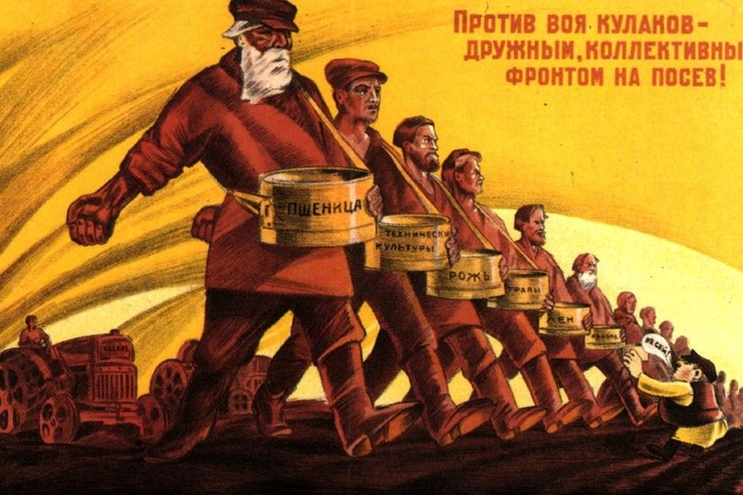 ru - Soviet posters: Soviet collective farmers against capitalism!