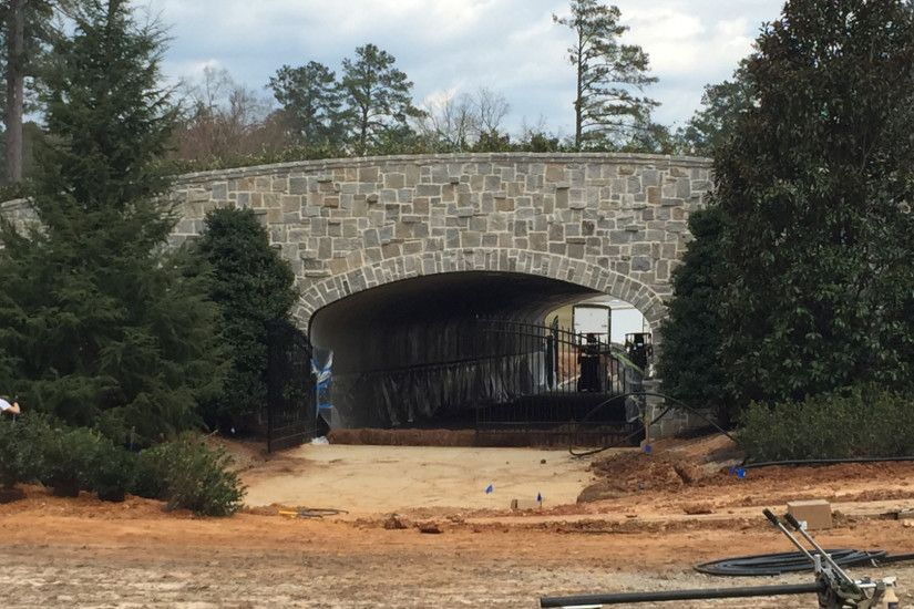 Photo of one of the new pedestrian tunnels leading onto the grounds of the Augusta  National