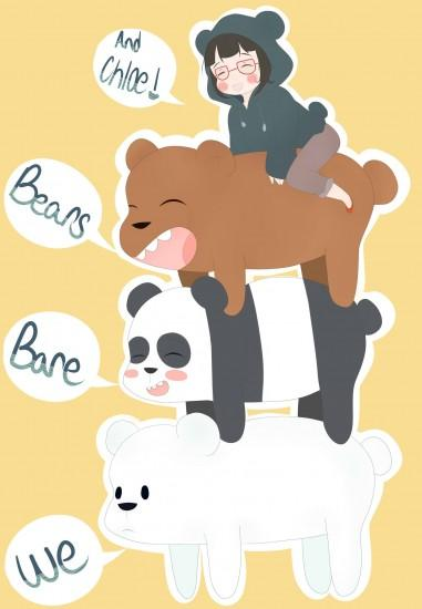 "We Bare Bears - Grizzly ""Grizz"", Panda, Ice Bear, Chloe"