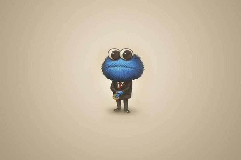Sesame street cookie monster humor funny cute wallpaper .