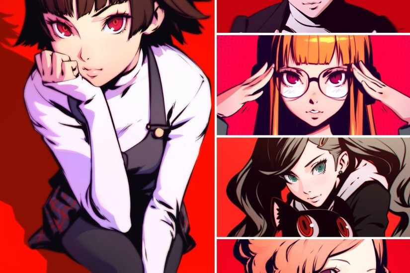 Persona 5 video game fan art from Ilya Kuvshinov featuring the main  characters from the game!