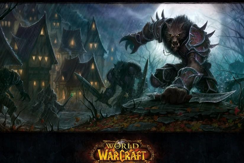 Preview wallpaper world of warcraft, cataclysm, warcraft, wow, wolf  2048x1152