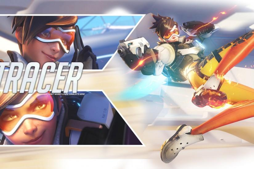 gorgerous overwatch tracer wallpaper 1920x1080 computer