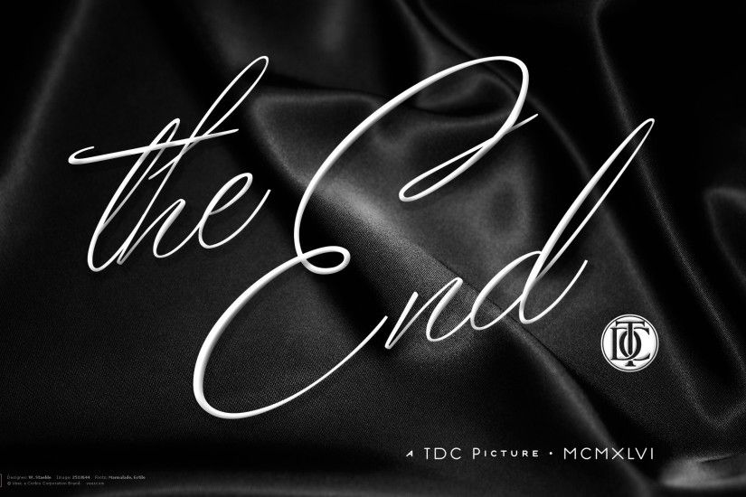 Retro The End Typography Wallpapers HD / Desktop and .