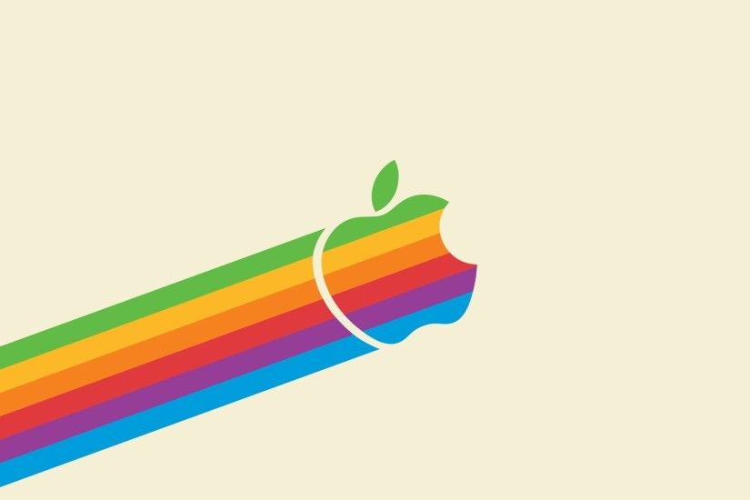 Flying Retro Rainbow Apple – Light