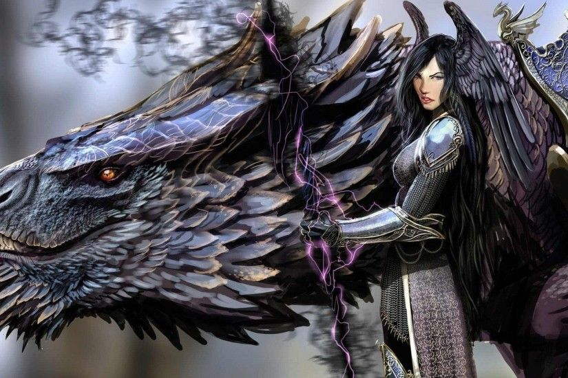 artwork, Concept Art, Women, Dragon, Warrior, Fantasy Art Wallpapers HD /  Desktop and Mobile Backgrounds