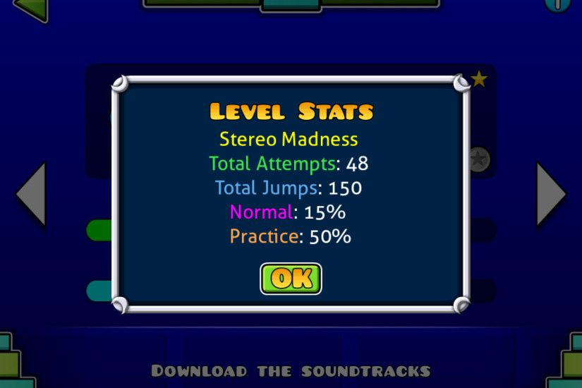 Geometry Dash Stats: screenshots, UI