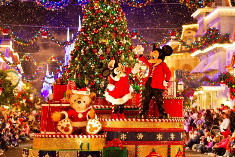 Mickey Mouse Minnie Mouse Christmas Parade WQHD Wallpaper