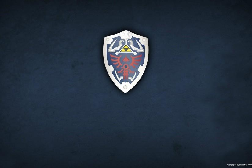The Legend Of Zelda Shield Wallpaper