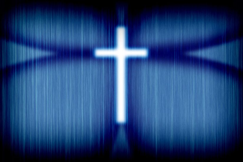 Religious - Christian Cross Blue Wallpaper