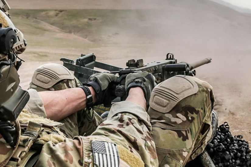 3840x1200 Wallpaper machine gun, us, special forces, afghanistan