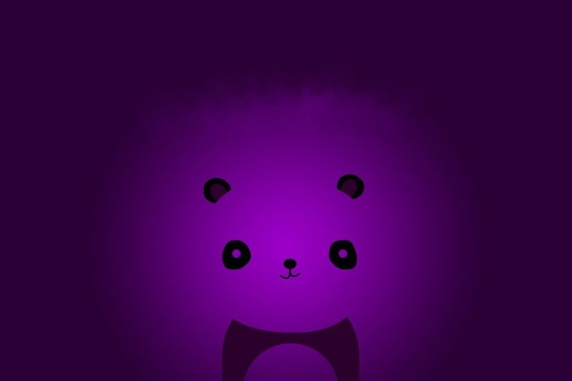 Abstract minimalistic violet panda bears wallpaper | 1920x1200 | 61005 |  WallpaperUP