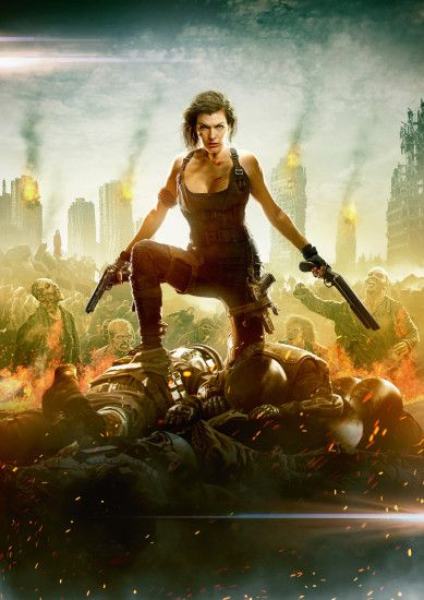 Wallpapers Resident Evil: The Final Chapter Milla Jovovich Girls Movies  Celebrities 2150x3041