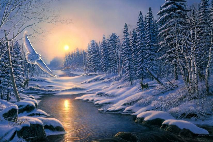 winter backgrounds 2560x1600 4k