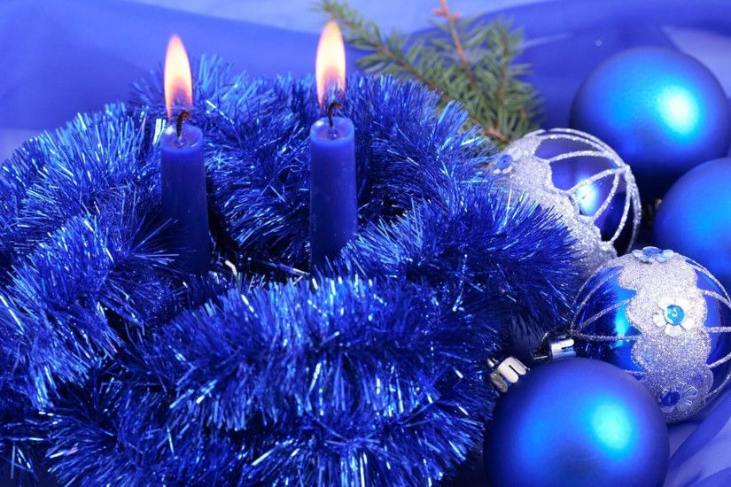 1920x1080 Wallpaper christmas decorations, candles, tinsel, thread,  needles, holiday, new