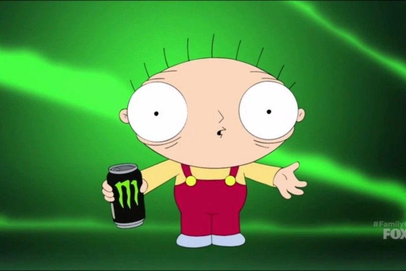 Family Guy - S14E06 - Stewie drinks a Monster energy drink
