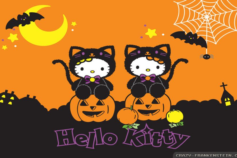 Wallpaper: Hello Kitty Halloween Resolution: 1024x768 | 1280x1024 |  1600x1200. Widescreen Res: 1440x900 | 1680x1050 | 1920x1200