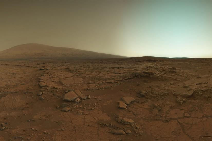 The surface of Mars, as seen by the Curiosity Rover.