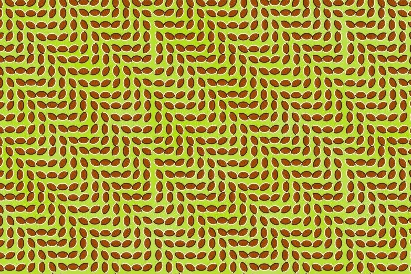 Preview wallpaper abstraction, optical illusion, leaves, movement,  imagination 1920x1080