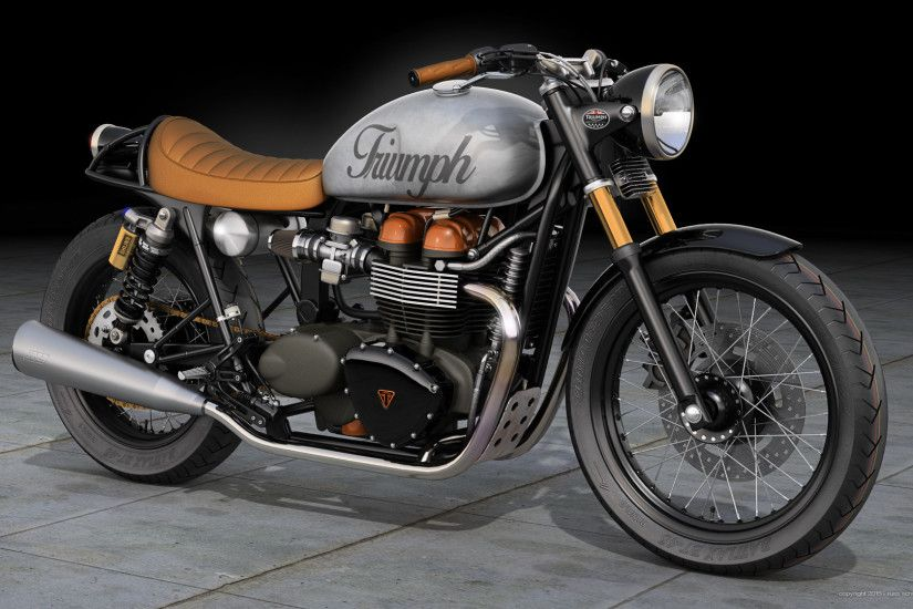 Triumph Bonneville Cafe Racer by dangeruss Triumph Bonneville Cafe Racer by  dangeruss