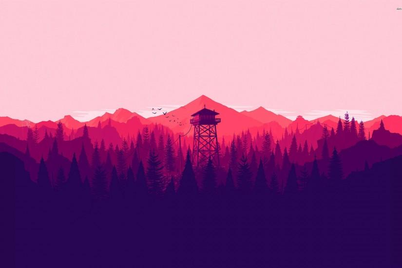 Firewatch Vector Wallpaper. Download