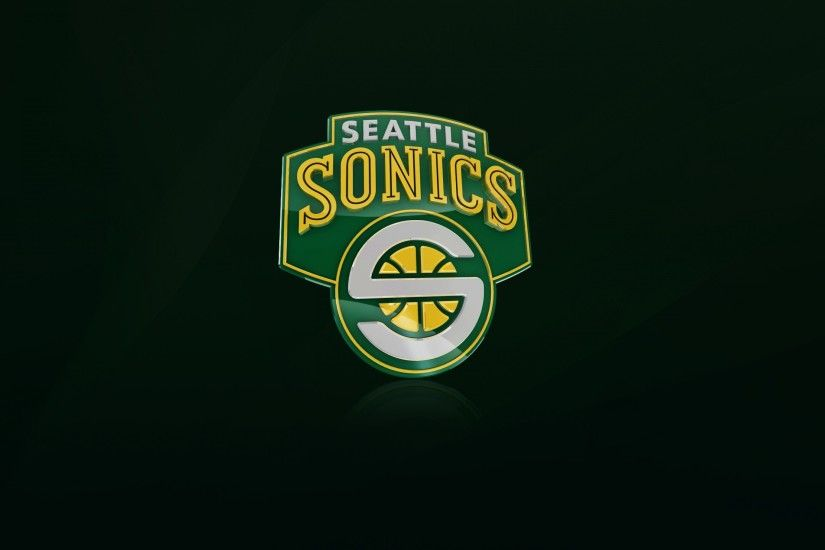 Preview wallpaper seattle supersonics, nba, logo 3840x2160