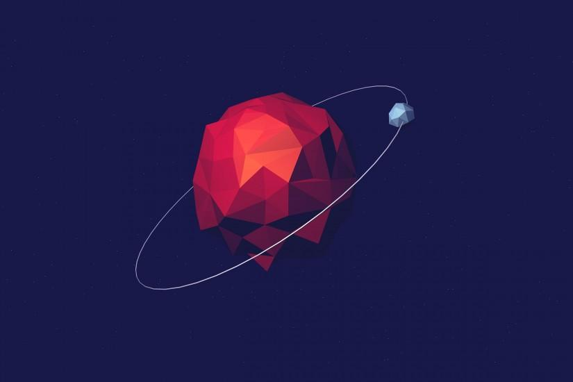 Polygon Orbit Wallpaper