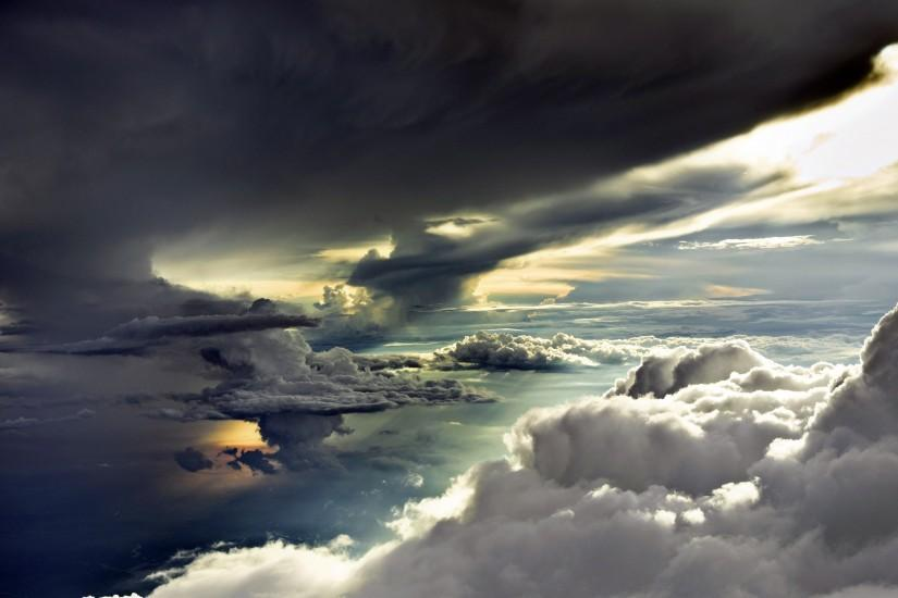 large clouds wallpaper 2560x1600 hd