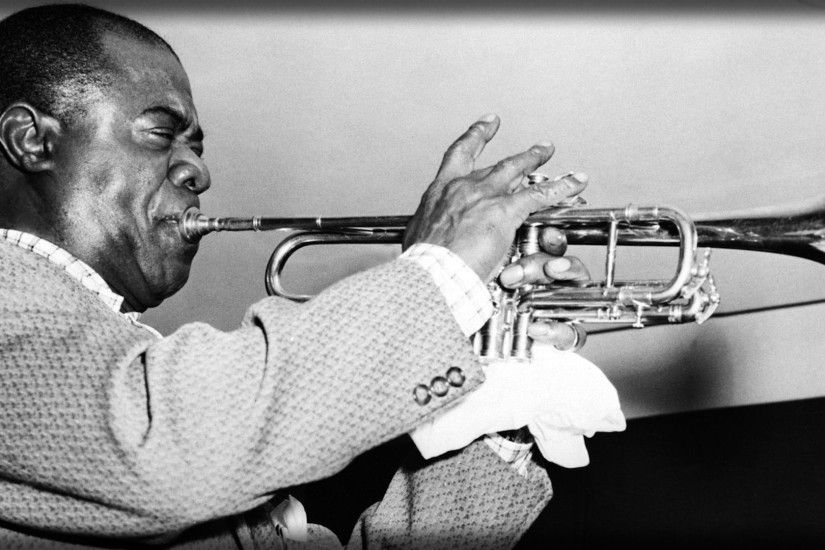 3840x2160 Wallpaper louis armstrong, pipe, jacket, face, play