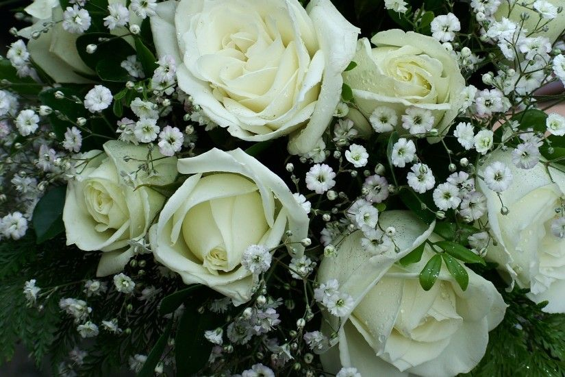 white rose flower bouquet
