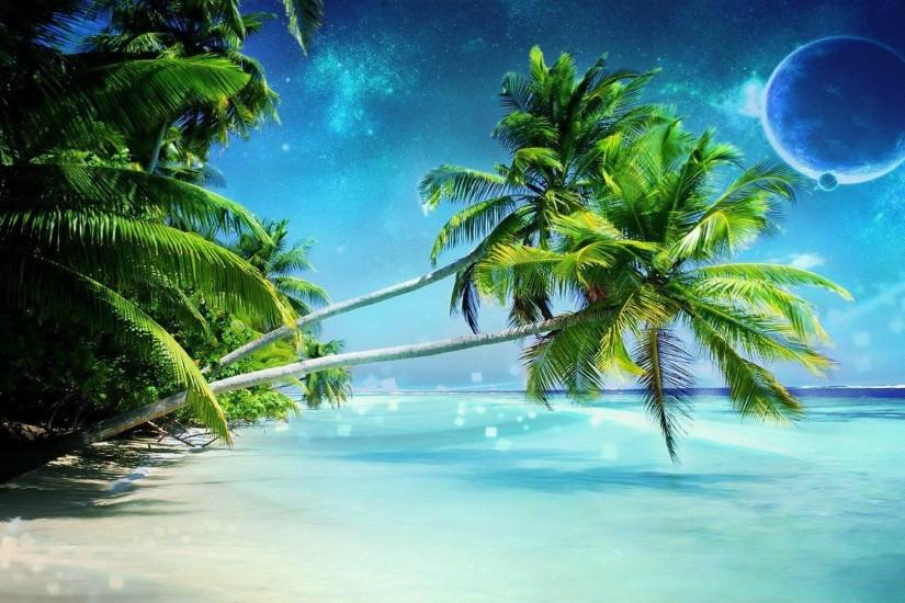 Palm Tree Beach Wallpapers - Wallpaper Cave ...