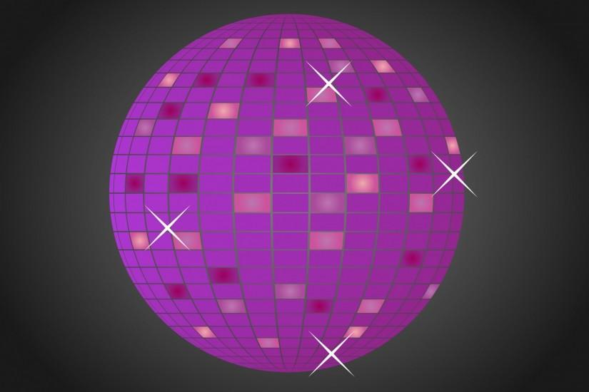 ... Disco Glitter Ball Purple ...