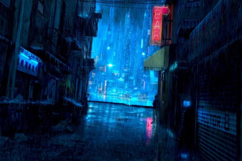 Anime Scenery Rain Wallpaper Background with High Definition Wallpaper  1920x1129 px 732.83 KB