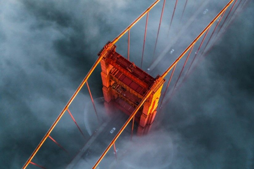 mist, Landscape, Nature, Bridge, Aerial View, Golden Gate Bridge, Morning,  Architecture, Sunrise, San Francisco Wallpapers HD / Desktop and Mobile ...