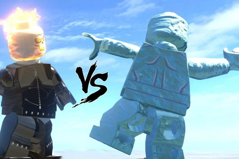 GOST RIDER VS ICE MAN - LEGO FIGHT (LEGO MARVEL SUPER HEROES) - YouTube