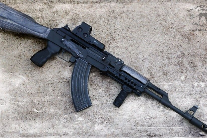 Ak-74 High Quality Background on Walls Cover