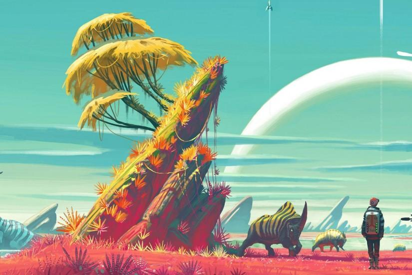 cool no mans sky wallpaper 3840x1080 image
