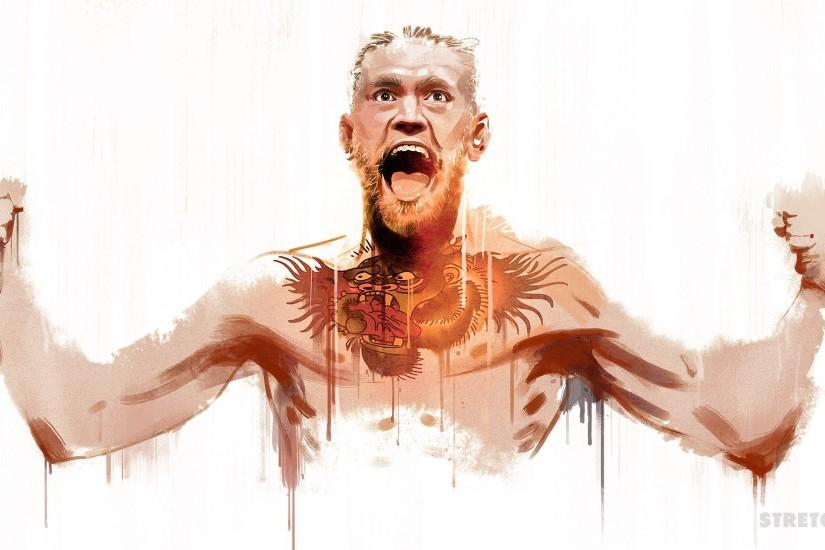 large conor mcgregor wallpaper 2300x1100