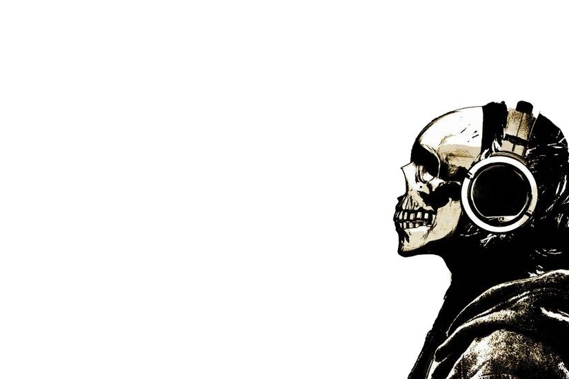 Skull with Headphones I like this | Soundbass | Pinterest | Wallpaper, Hd  wallpaper and Music wallpaper