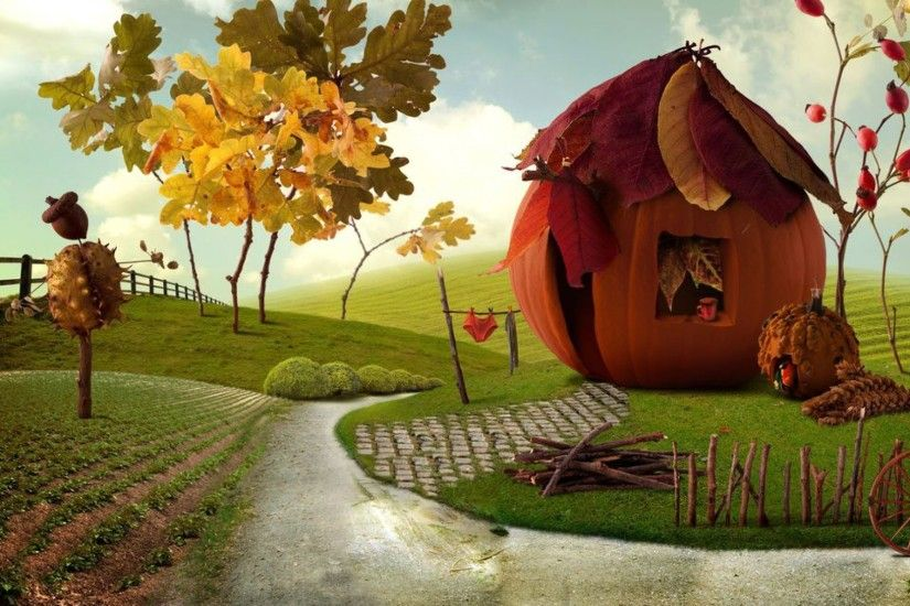 Imaginative Autumn Scenery wallpapers and stock photos