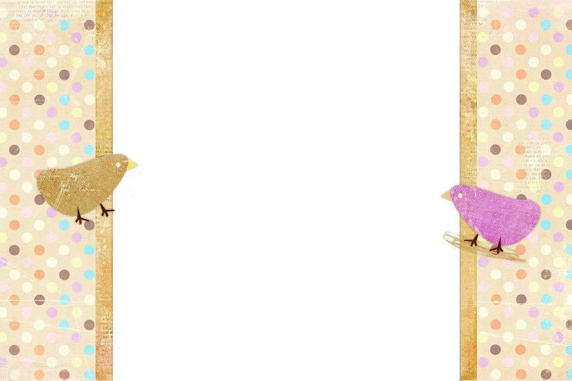 Cute Chicks Free Blog Background