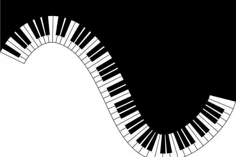 Piano Keyboard Waves Card