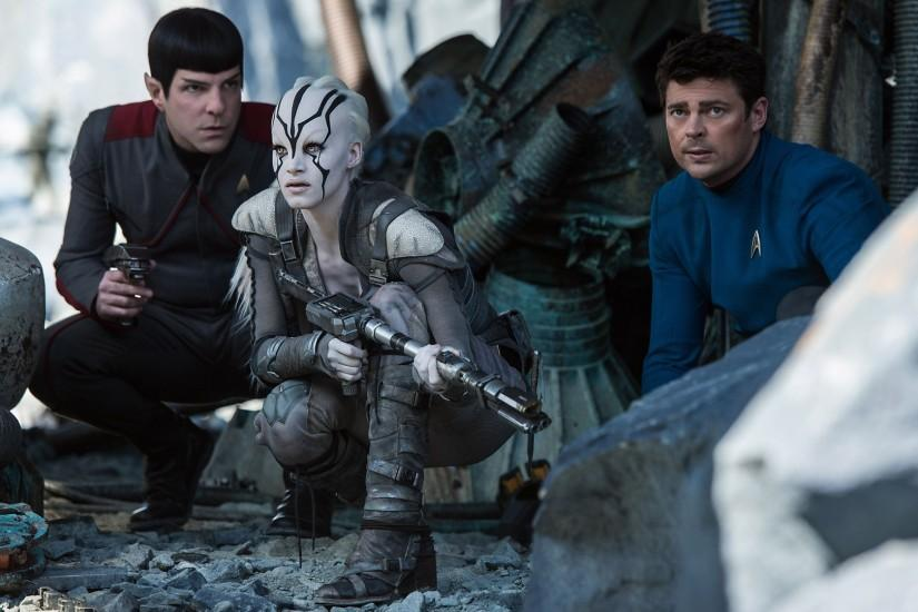 Star Trek Beyond Zachary Quinto And Sofia Boutella Hd Wallpaper [1920x1080]  ...