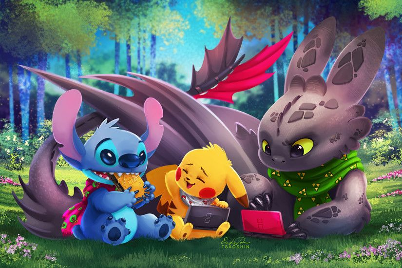 Movie - Crossover How to Train Your Dragon Pokémon Lilo & Stitch Toothless  (How to